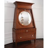 French Key Secretary Desk with Hutch