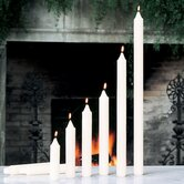 Unscented Ivory Taper Candles (Set of 4)