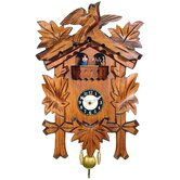 Clock with 5 Leaves and Chimes or Cuckoo Options