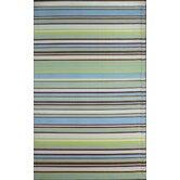 Stripes Grey Aqua Rug