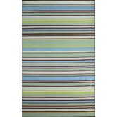 Stripes Grey Aqua Rug