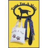 """Time For a Walk"" Leash Hook"