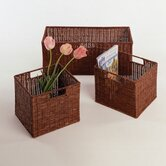 Set of 3 Walnut Storage Baskets