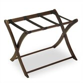 Espresso Luggage Rack w/ Curved Legs
