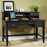 Bedford Executive Writing Desk and Hutch Set with 3 Drawers on Writing Desk