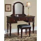 Lafayette Vanity and Bench in Cherry