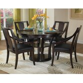 Rio Vista 5 Piece Reversible Game Table Set in Espresso
