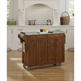 Create-a-Cart Kitchen Cart with Granite Top