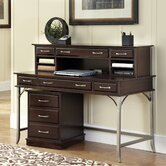 Bordeaux Executive Desk with Hutch and Mobile File