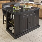 Nantucket Kitchen Island with Granite Top