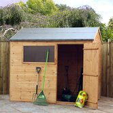 Shiplap Reverse Apex Storage Shed with Styrene Window