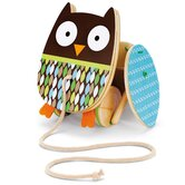 Treetop Friends Flapping Owl Pull Toy