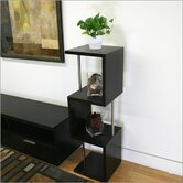 Baxton Studio Cornelia Modern Tall Display Shelf in Dark Brown