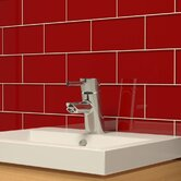 "Subway 6"" x 3"" Tile in Ruby Red"