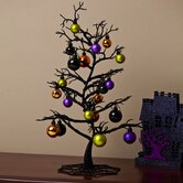 Spooky Tree with Ornaments Table Decor