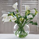 Calla Lilies in Glass Bubble Bowl