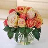 Roses in Bubble Bowl