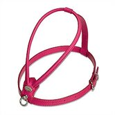 Fashion Soft Leather Dog Harness in Fuchsia