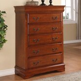 Louie Philippe 5 Drawer Chest