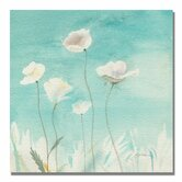 'White Poppies' by Sheila Golden Painting Print on Canvas