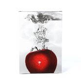 'Red Apple Splash' by Roderick Stevens Photographic Print on Canvas