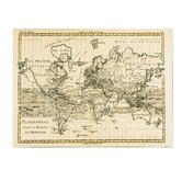 """Mercator Map of the World"" by Charles Bonne Graphic Art on Canvas"