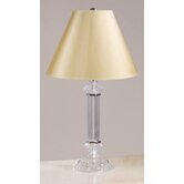 Battersby Accent Lamp with Classic Shade in Satin Nickel