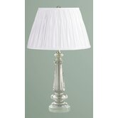 Garrat Table Lamp with Classic Shade in Crystal
