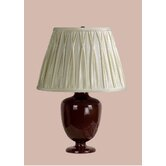 Madeleine Table Lamp with Charlotte Pinched Pleat Shade in Brown