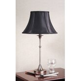 Morgan Table Lamp with Charlotte Bell Shade in Antique Pewter