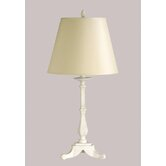 Webber Table Lamp with Charlotte Cream Shade in Antique White
