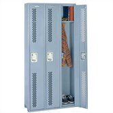 Integrated Frame All Welded Locker - Single Tier - 3 Sections