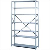 8000 Series Open Shelving - 7 Shelves: 84&quot; H x 36&quot; W x 18&quot; D