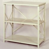 8000 Series Open Counter High Shelving - 3 Shelves: 39&quot; H x 36&quot; W x 18&quot; D