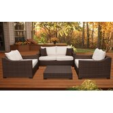 Kingston 4 Piece Deep Seating Group with Cushions