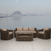 Palma 4 Piece Deep Seating Group with Cushions