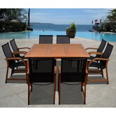 Amazonia Jersey 9 Piece Dining Set