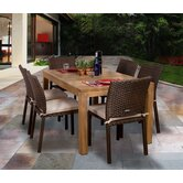 Amazonia Brownsville 7 Piece Dining Set