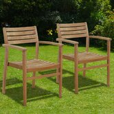 Canberra Stacking Dining Arm Chairs (Set of 2)