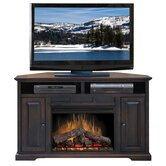 "Brentwood 56"" Corner TV Stand with Electric Fireplace"