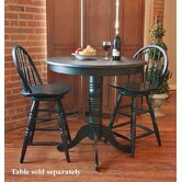 24&quot; Swivel Windsor Barstool in Antique Black