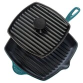 "Enameled Cast Iron 10"" Caribbean Grill Pan Set"