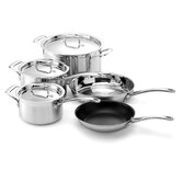 Stainless Steel 8-Piece Cookware Set with Crate