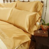 230 Thread Count Charmeuse II Satin Sheet Set in Gold