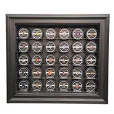 Thirty Puck Display Case in Brown