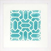 Modern Living Modern Symmetry V Framed Graphic Art in Turquoise