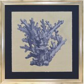 Seaside Living Chambray Coral I Framed Graphic Art