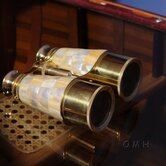 Binocular with Mother of Pearl Overlay in Wood Box