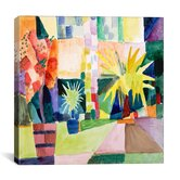 """Garden on Lake Thun Macke"" Canvas Wall Art by August Macke"