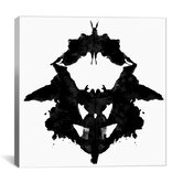 Modern Art Dancing Butterfly Inkblots Graphic Art on Canvas
